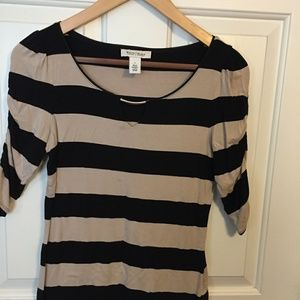WHBM Black and Cream Block Top, Size S